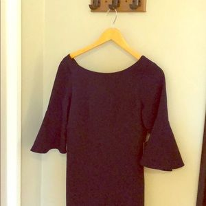 Vince Camuto Navy Bell Sleeve Dress (NWT)